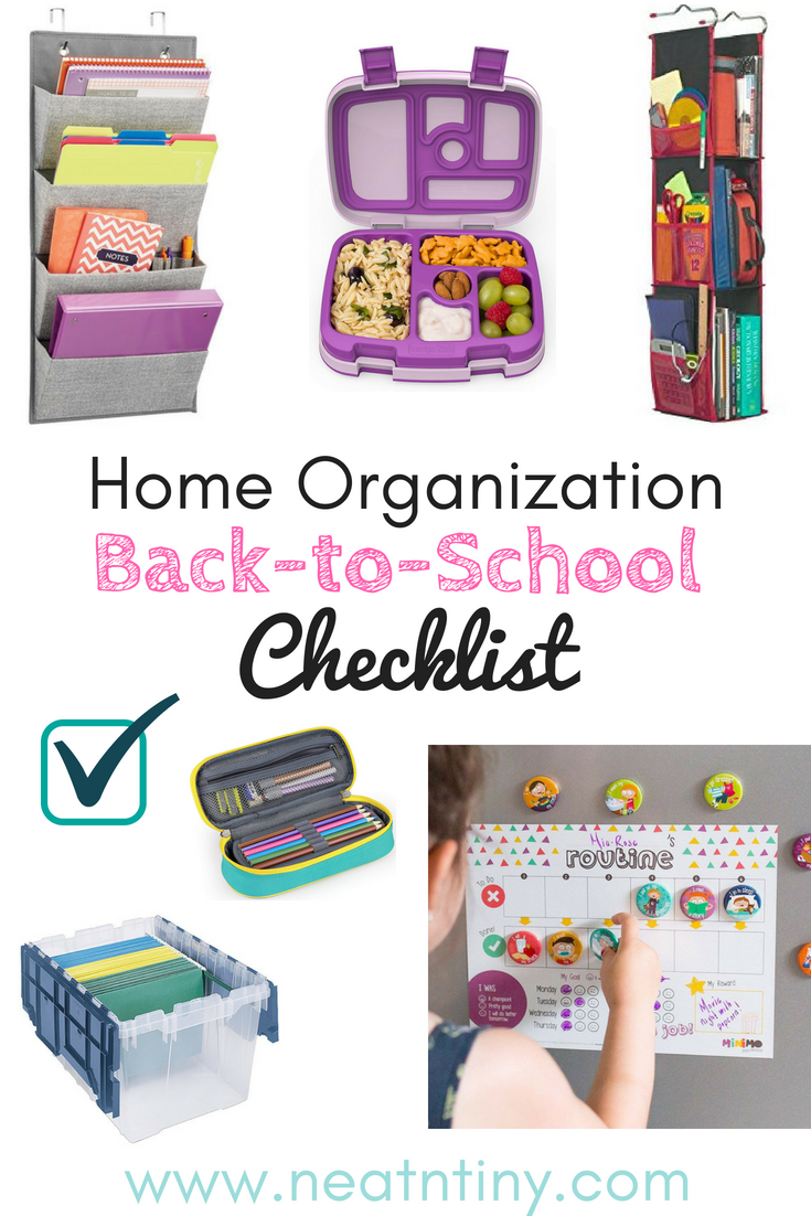 Back-to-School Home Organization