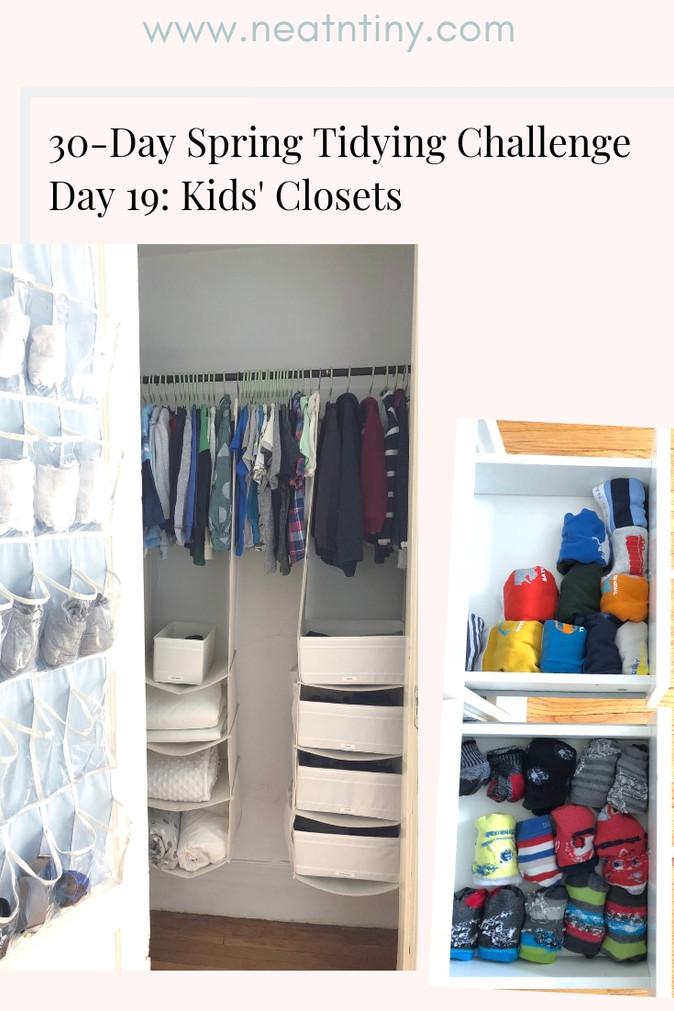 How to Organize Kids' Closets
