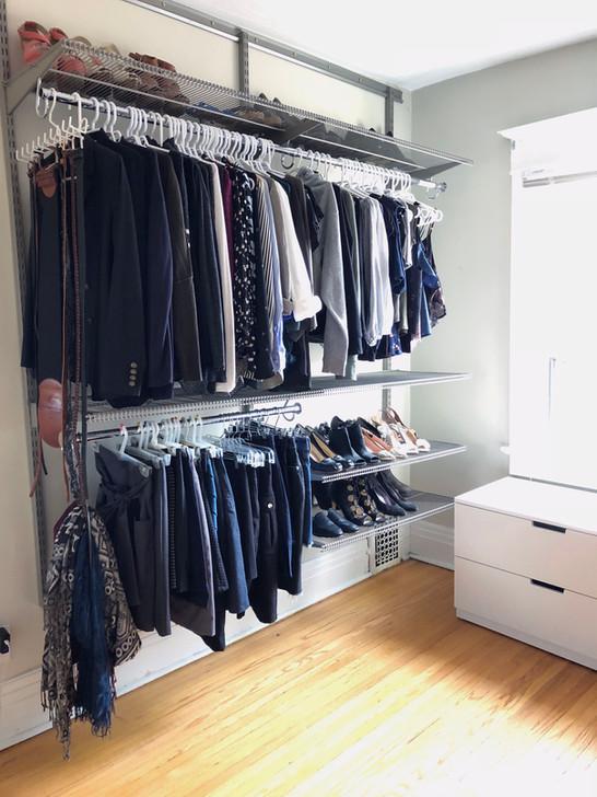 space saving closet organizers ideas. Black Bedroom Furniture Sets. Home Design Ideas