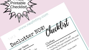 Quick & Easy Declutter Checklist