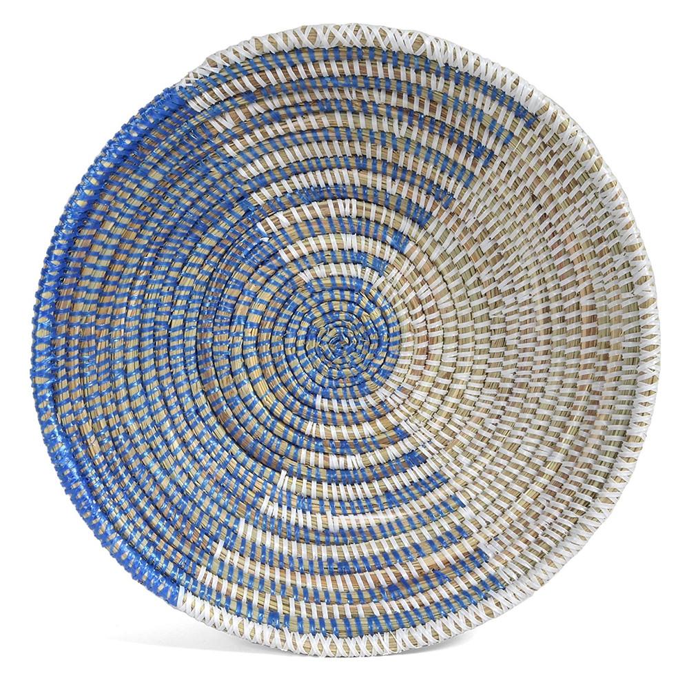 Handwoven round basket