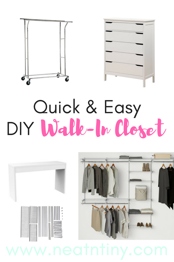Our Diy Walk In Closet Minimalist Home Decor Declutter Neatntiny