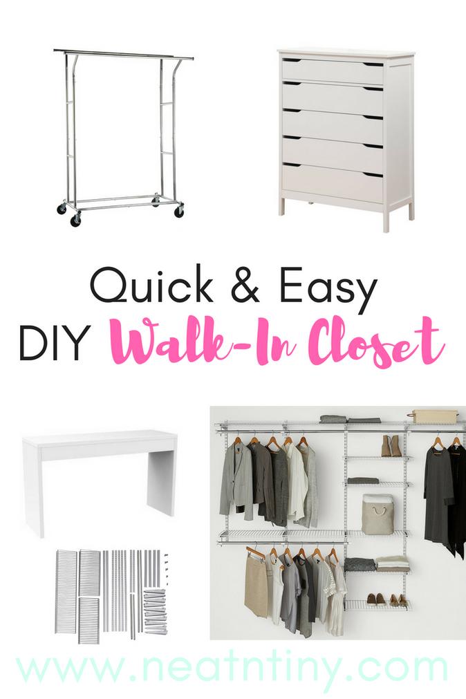 Our DIY Walk-In Closet