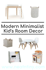 minimalist kids room decor