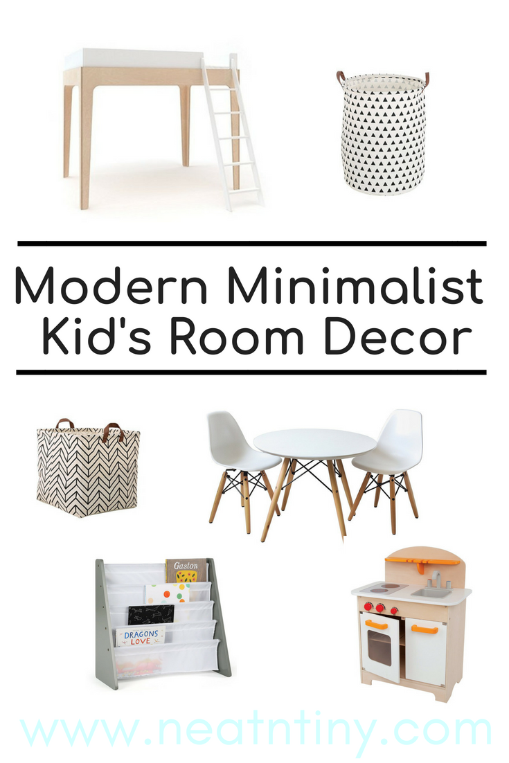 minimalist kid's decor