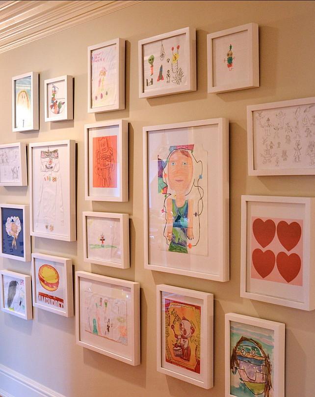 kids gallery wall