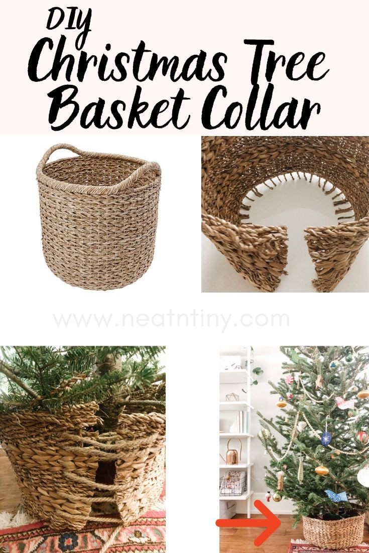 diy christmas tree basket collar