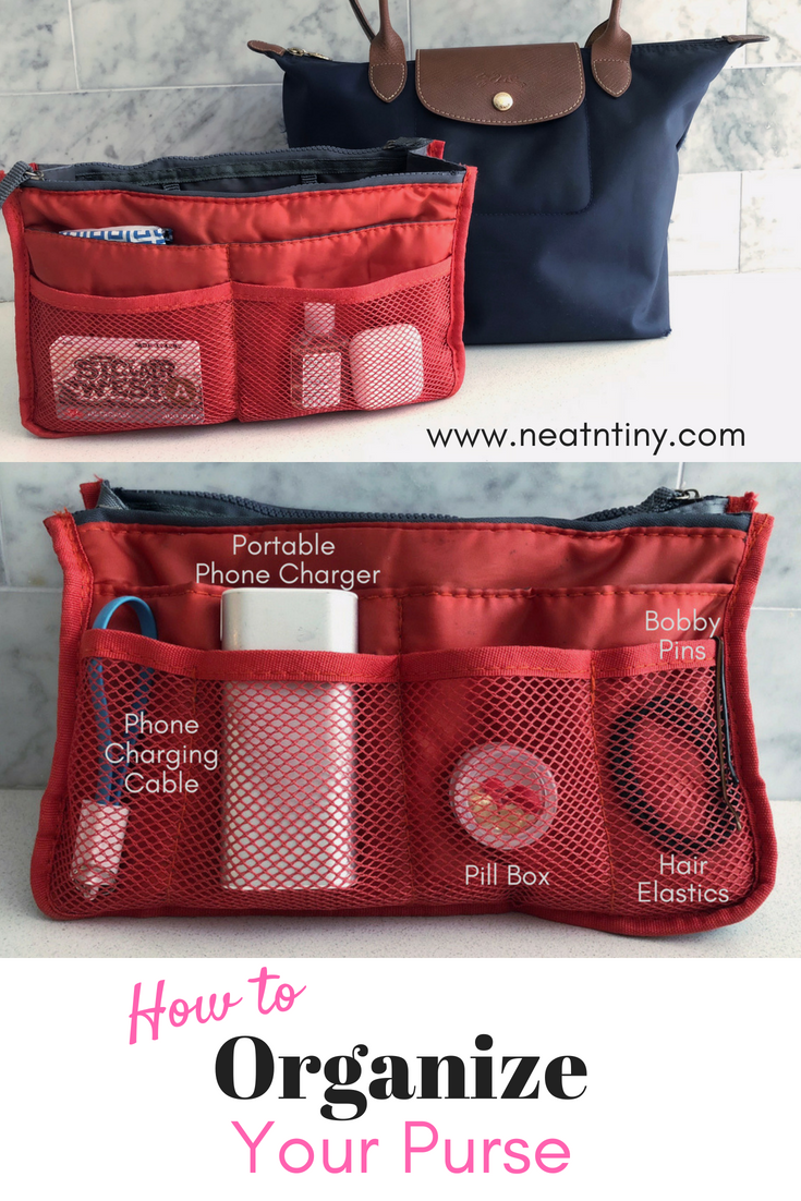how to use a purse organizer