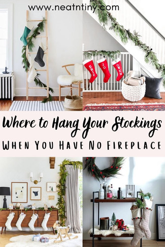 Where to Hang Christmas Stockings If You Don't Have A Fireplace