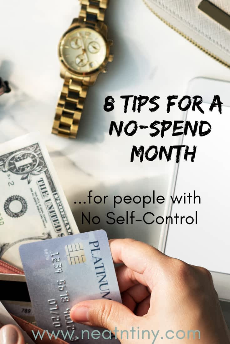 how to have a no-spend month