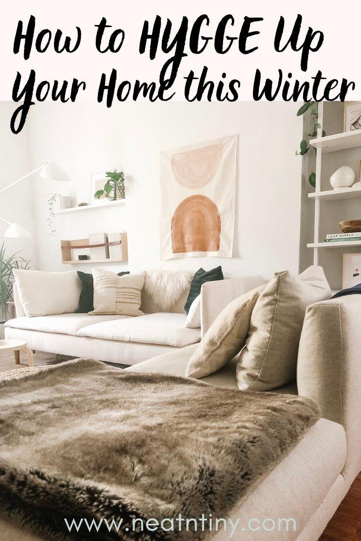 hygge home decor for winter