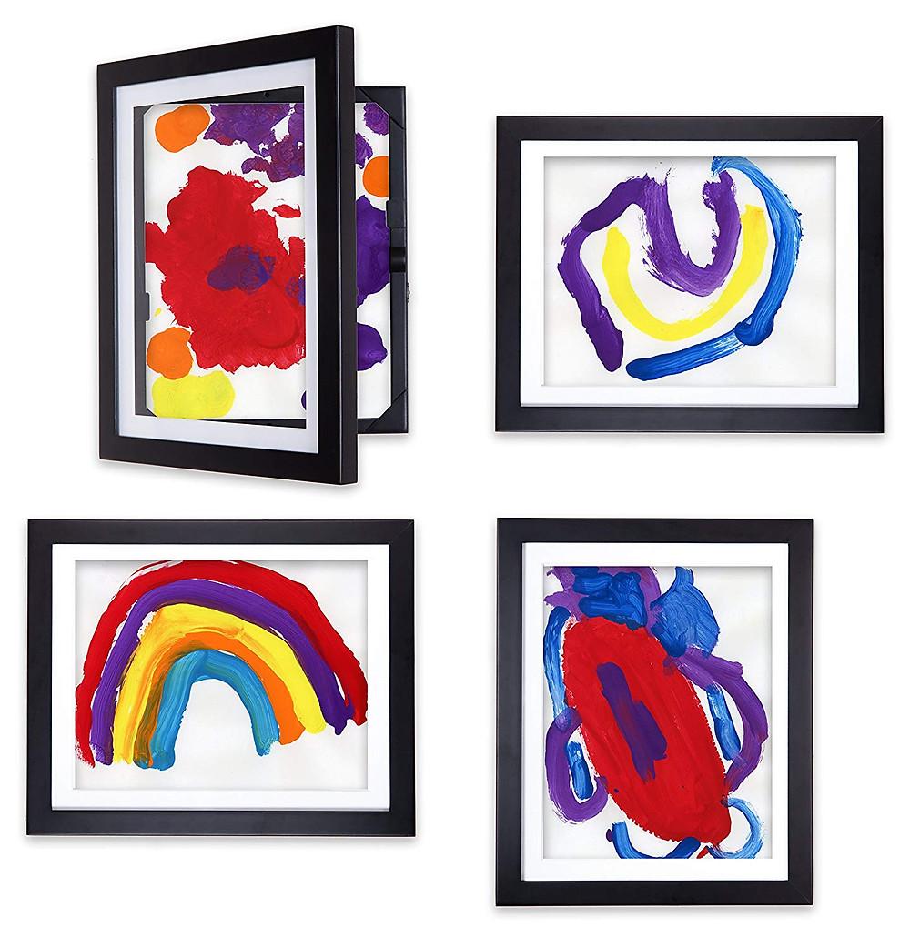 Display art cabinet frames