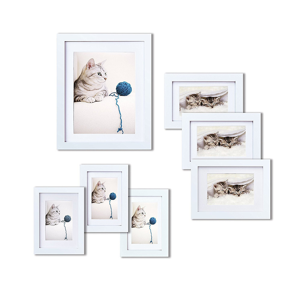 white gallery wall frames