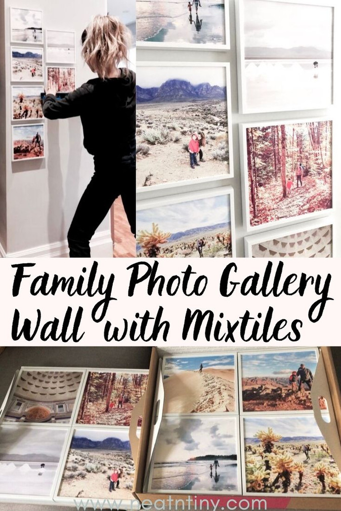 Not-Too-Tacky Family Photo Gallery Wall With Mixtiles