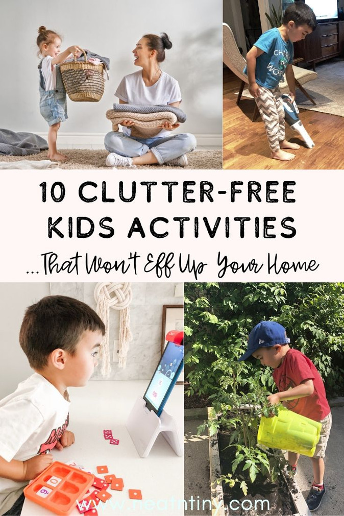 10 Clutter-Free Kids Activities that Won't Mess Up Your Home