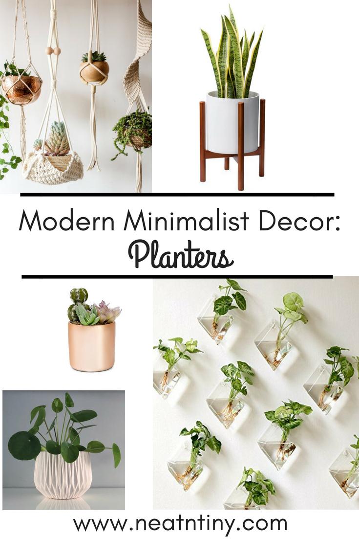 minimalist planters