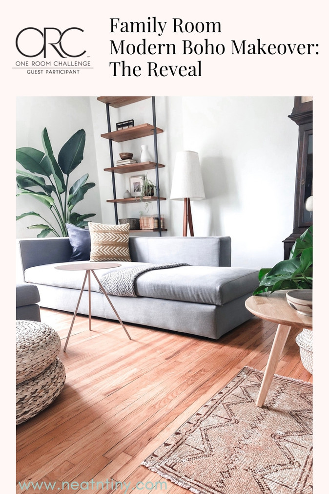 One Room Challenge - Week 6: Modern Boho Family Room Reveal