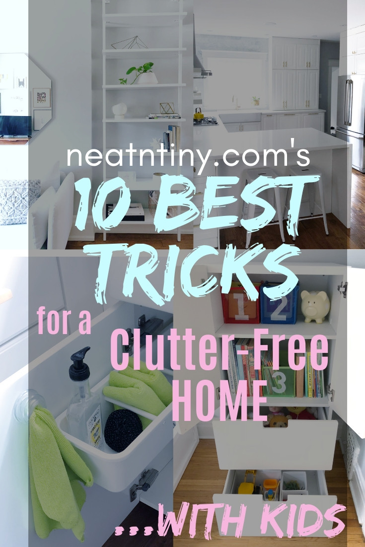 how to be clutter-free with kids