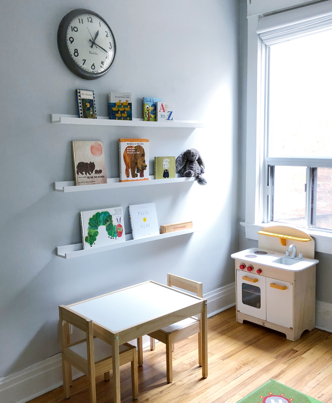 How to Style Floating Bookshelves In Your Kids' Room