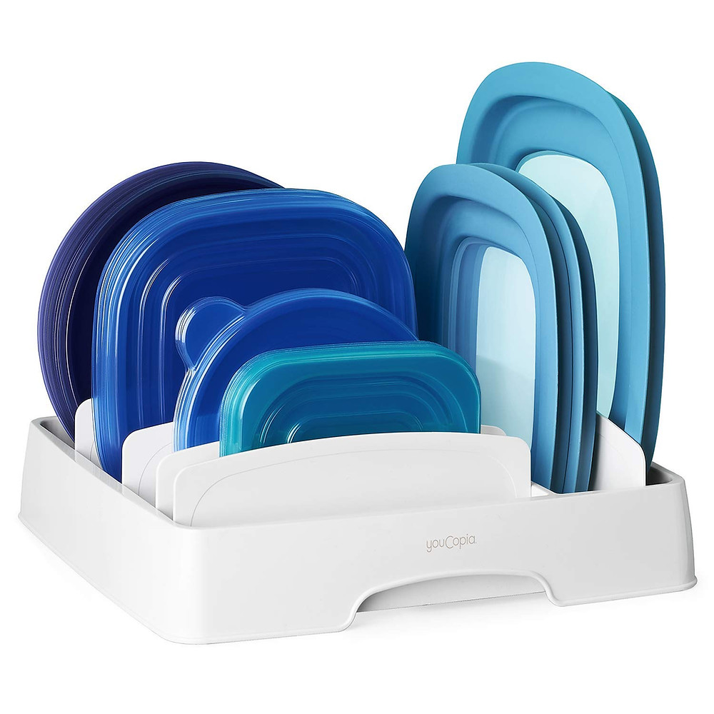 Tupperware lid organizer