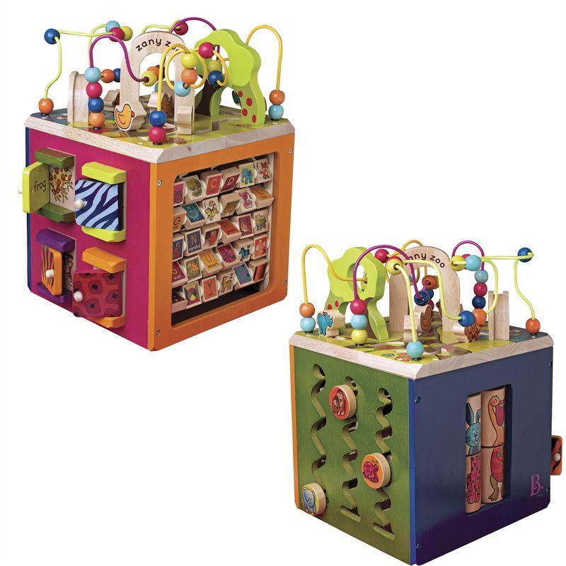 Wooden zany zoo activity cube