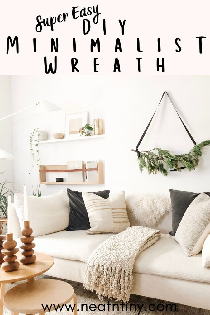 DIY Minimalist Christmas Wreath