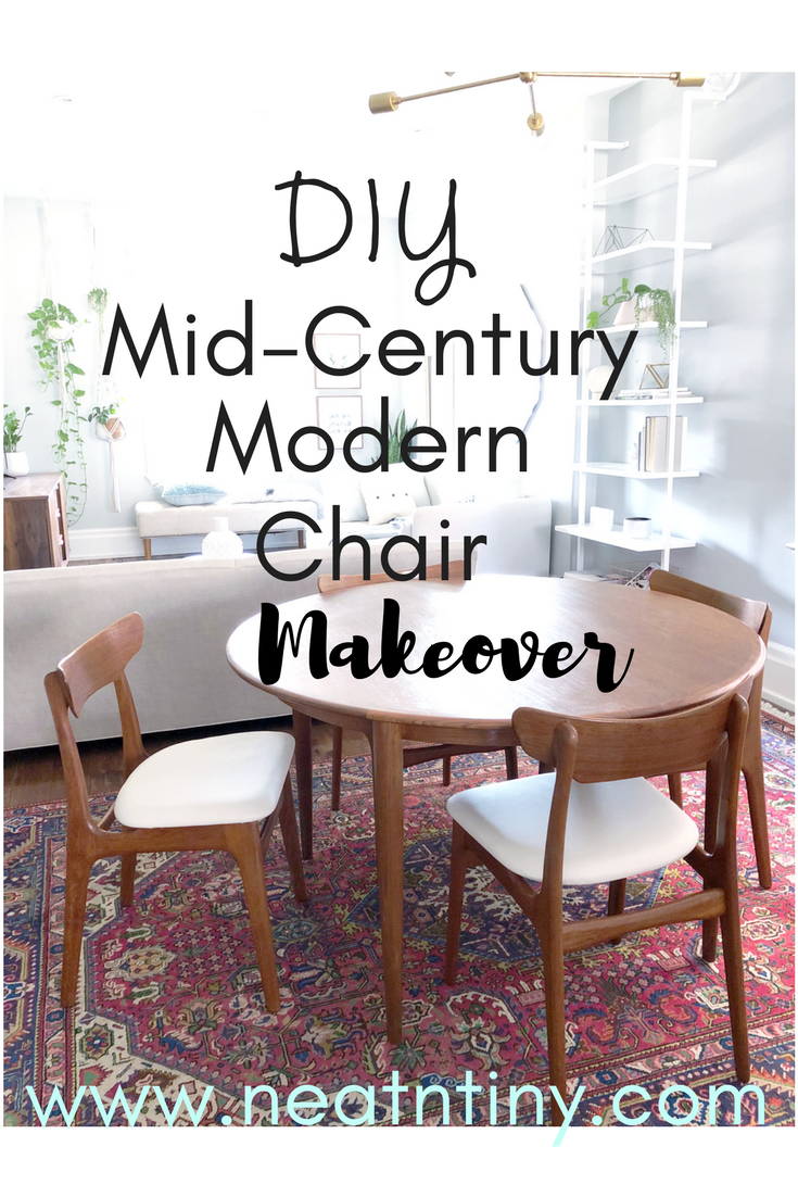 midcentury modern dining  chair reupholster