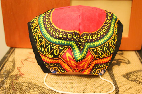 African Print cloth face mask