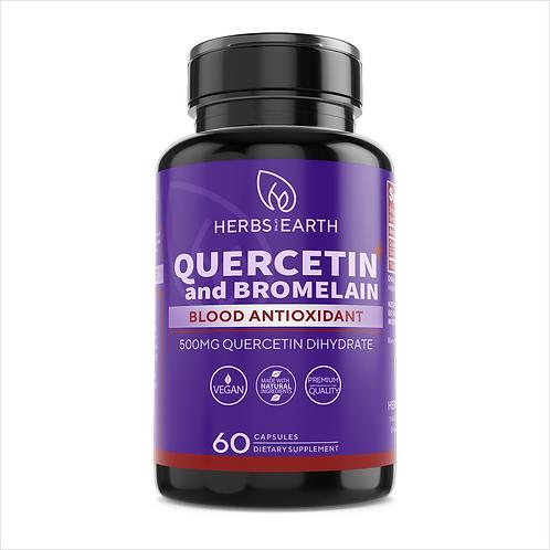 Quercetin and Bromelain 600MG Vegan Antioxidant