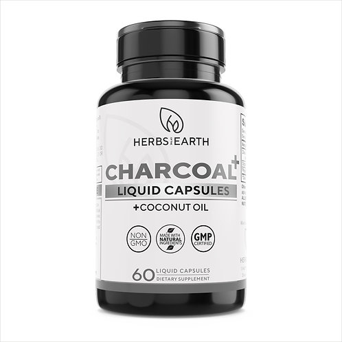 Activated Charcoal with Coconut Oil Digestive Support