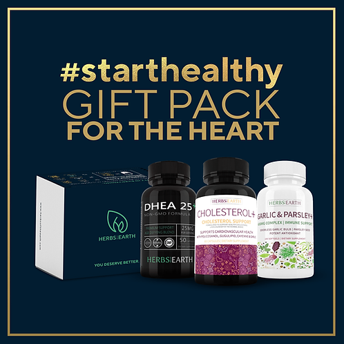 Healthy Heart Gift Pack - DHEA, CHOLESTEROL, GARLIC and PARSLEY
