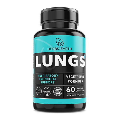 Lungs+ Respiratory Support Lung Cleanse & Lung Detox - Asthma Relief, COPD