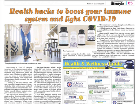 Health Hacks to Boost your immune system and fight COVID-19