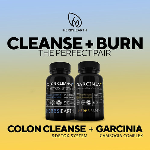 Colon Cleanse Detox + Garcinia Cambogia Complex 2 Bottles Combo