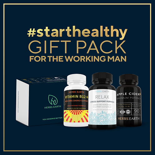 The Working Man's Gift Pack - Vitamin B-12, Relax and Apple Cider