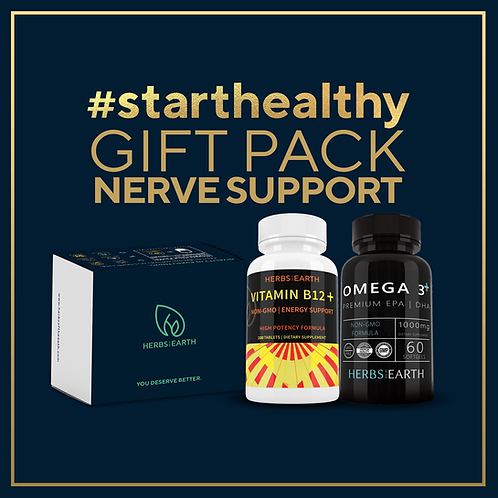 Nerve Support Gift Pack - Vitamin B-12 and Omega 3