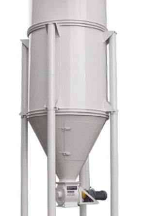 Ciclón colector /filtro de mangas -Válvula rotativa + motor RV-30A -Extractor