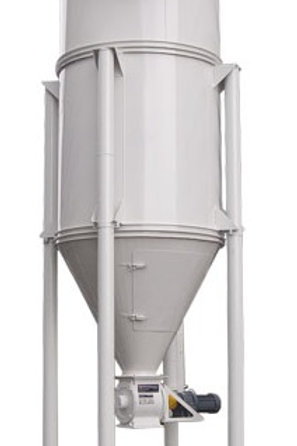 Ciclón colector /filtro de mangas -Válvula rotativa + motor RV-22A -Extractor