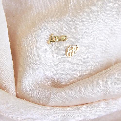 Love me stud earrings
