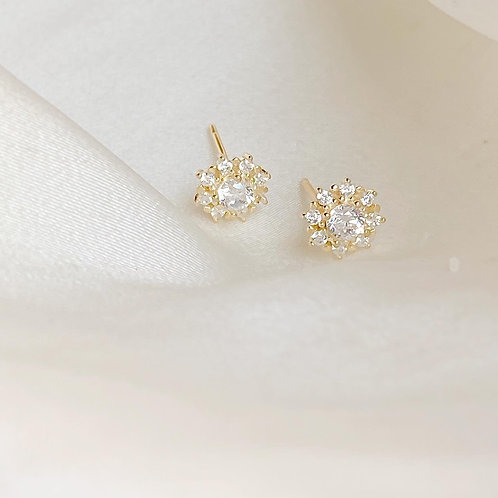 Round pave Czs earrings