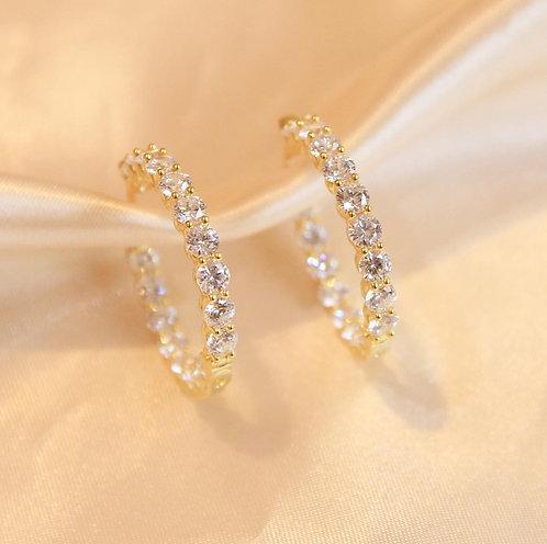 Chunky Pave hoop earrings