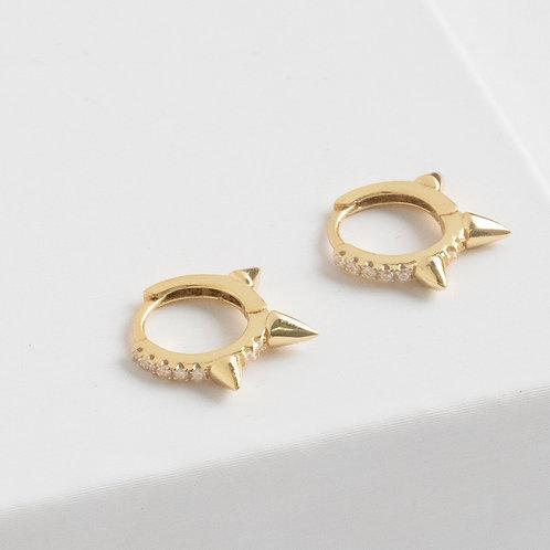 Spike huggie earrings