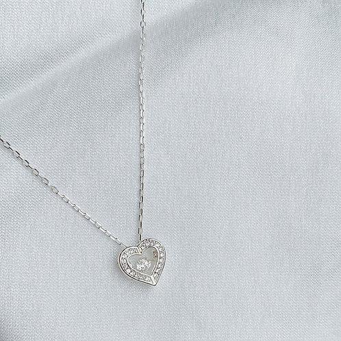 Dancing heart necklace