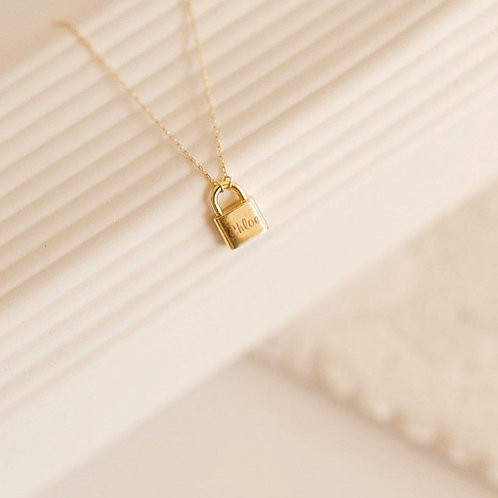 Custom Engrave Padlock Necklace