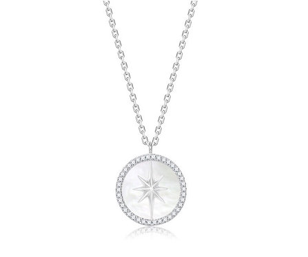 Pave Stella with Seashell Necklace