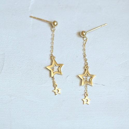 Dangle Stella chain earrings
