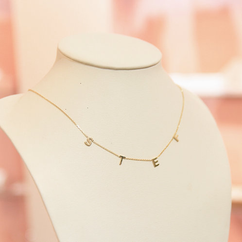 Custom Letter Necklace