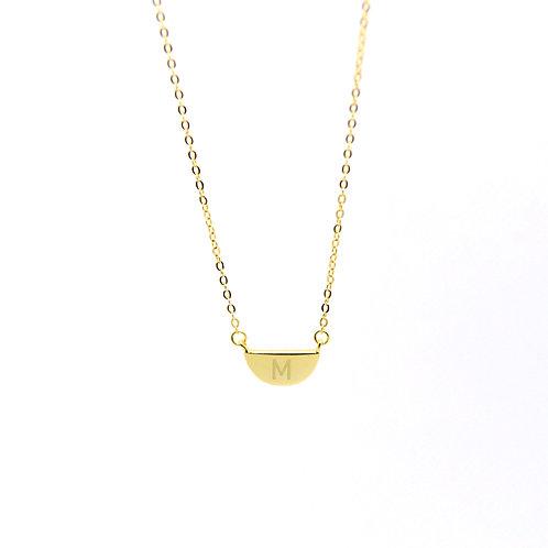 Half Moon Disc Necklace