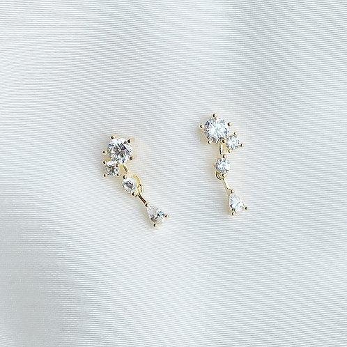 4 Stones czs dangle earring
