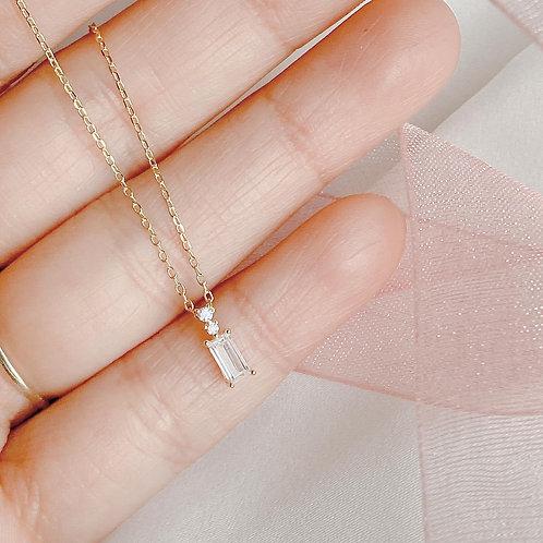 Czs baguette necklace